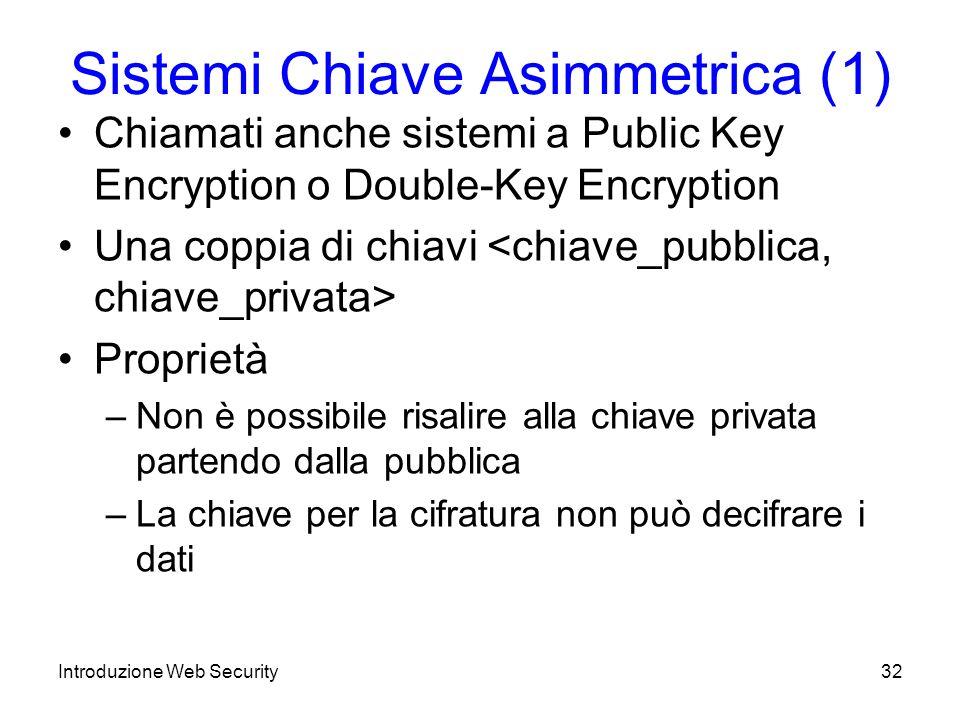 Sistemi Chiave Asimmetrica (1)