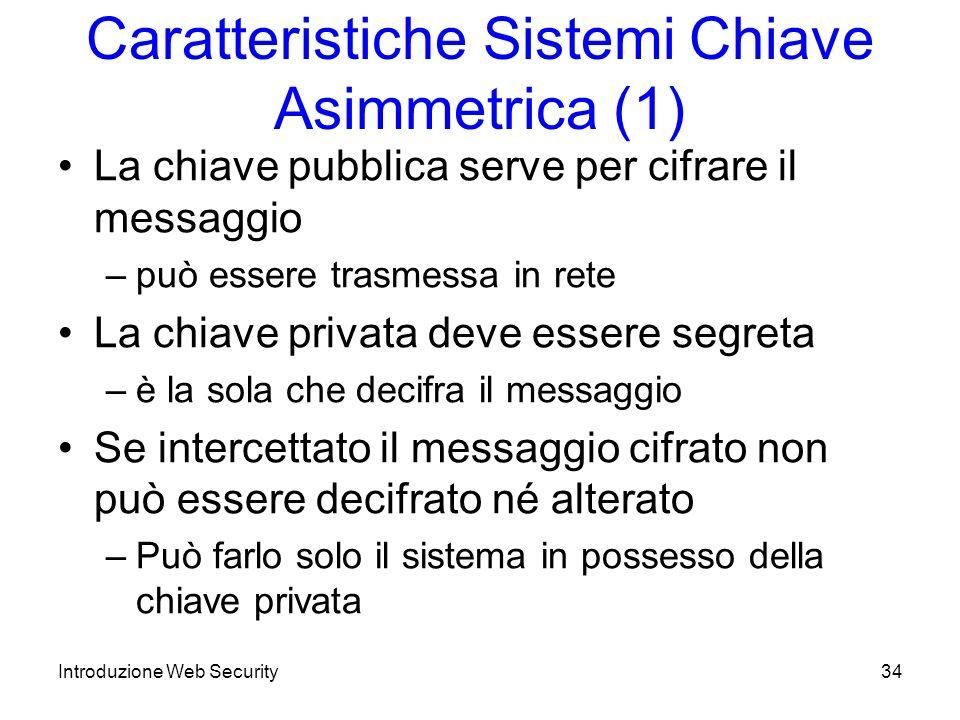 Caratteristiche Sistemi Chiave Asimmetrica (1)