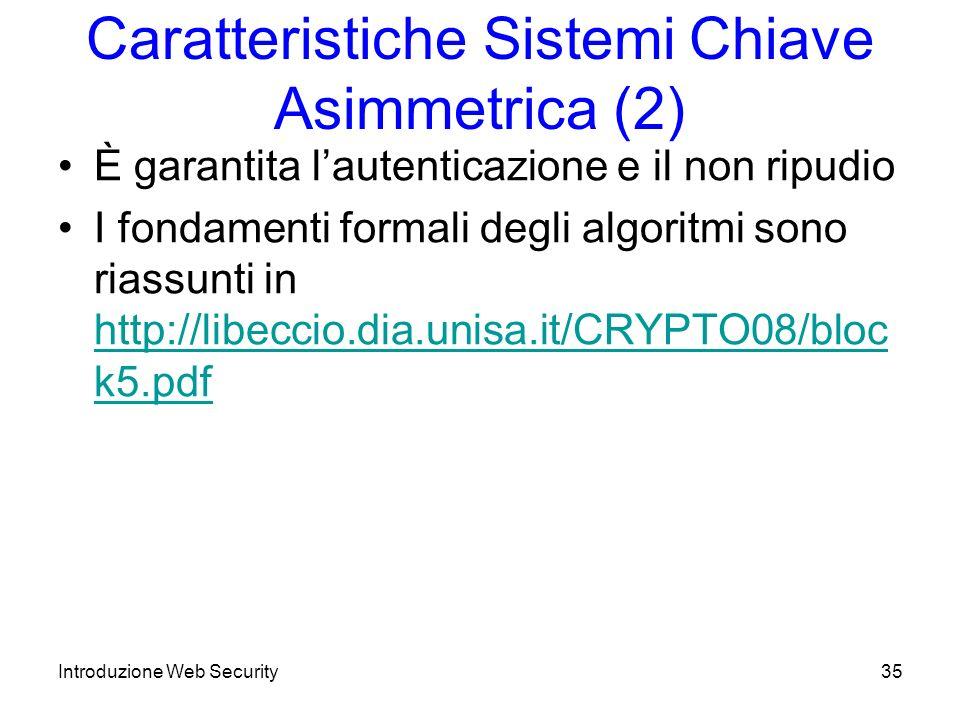 Caratteristiche Sistemi Chiave Asimmetrica (2)