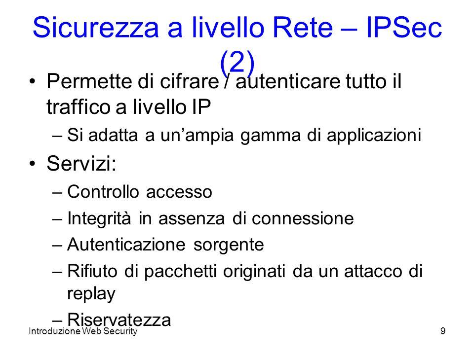 Sicurezza a livello Rete – IPSec (2)