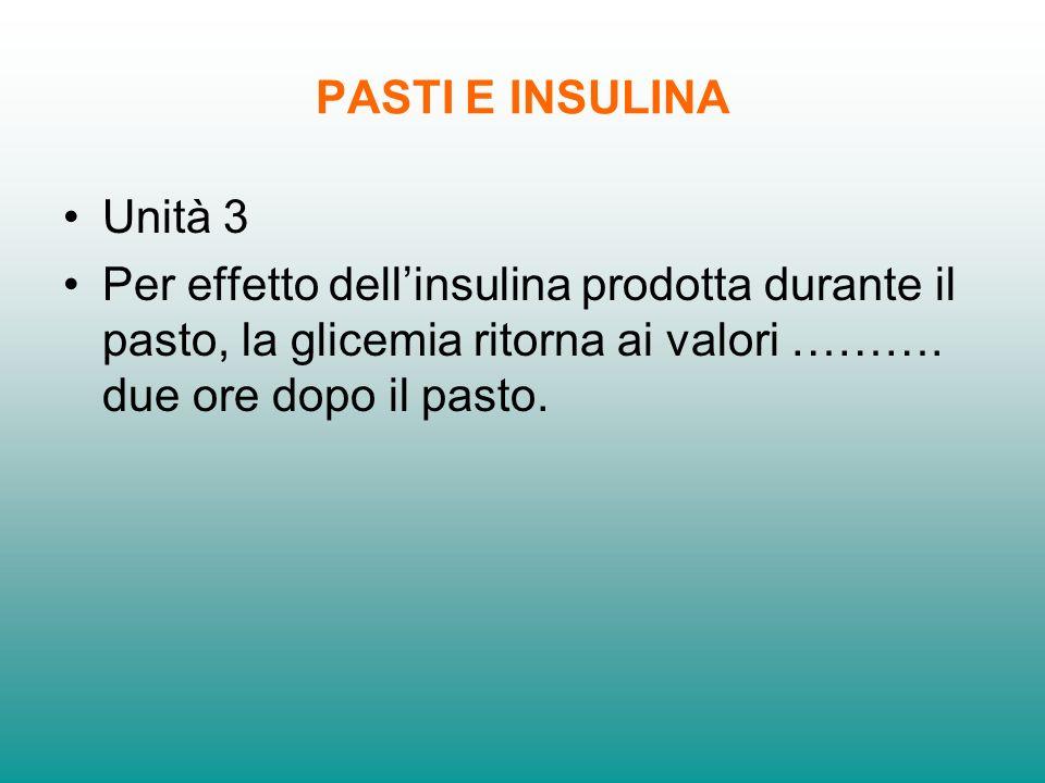 PASTI E INSULINA Unità 3.