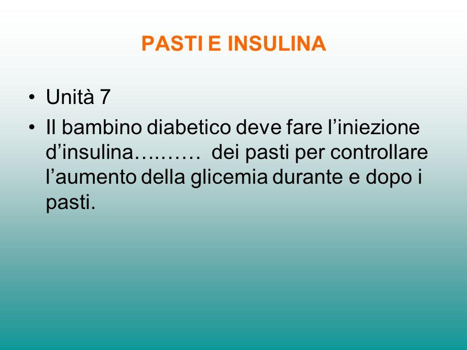 PASTI E INSULINA Unità 7.