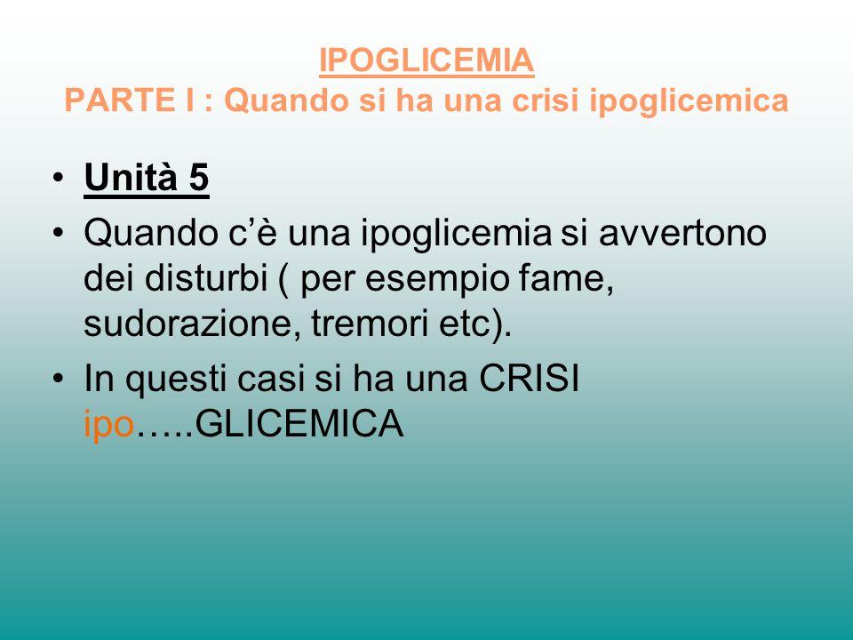 IPOGLICEMIA PARTE I : Quando si ha una crisi ipoglicemica