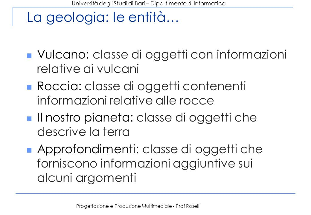 La geologia: le entità…