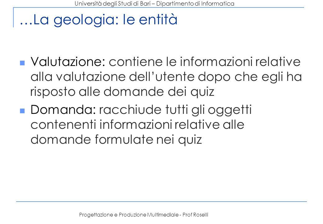…La geologia: le entità