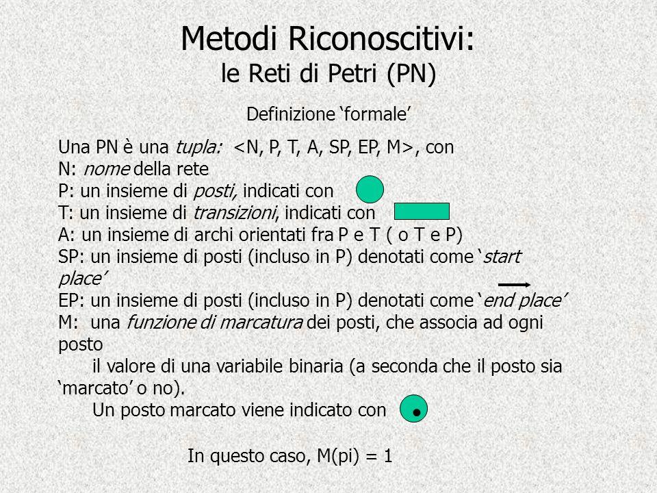 Metodi Riconoscitivi: le Reti di Petri (PN)
