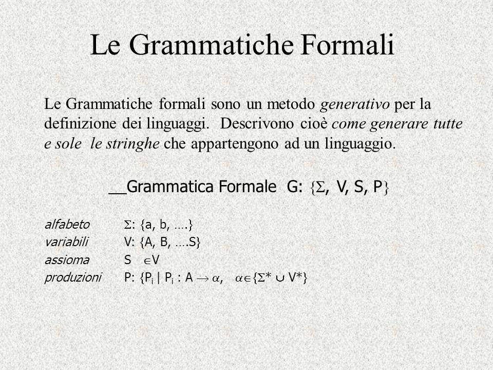 Le Grammatiche Formali