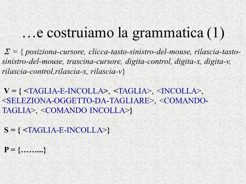 …e costruiamo la grammatica (1)