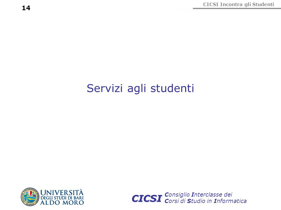 Servizi agli studenti