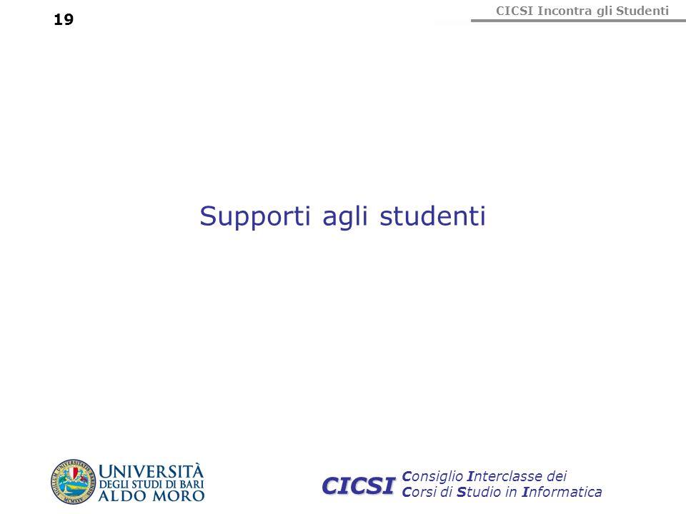 Supporti agli studenti