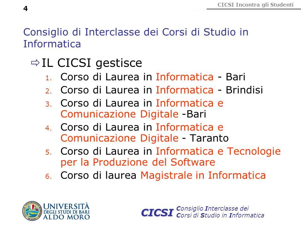 Consiglio di Interclasse dei Corsi di Studio in Informatica