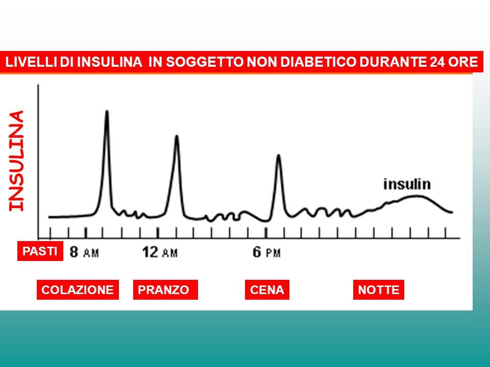 INSULINA LIVELLI DI INSULINA IN SOGGETTO NON DIABETICO DURANTE 24 ORE