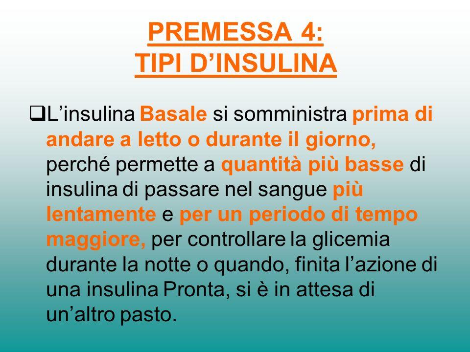 PREMESSA 4: TIPI D'INSULINA