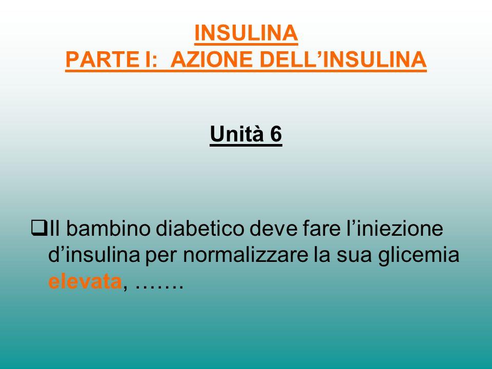 INSULINA PARTE I: AZIONE DELL'INSULINA
