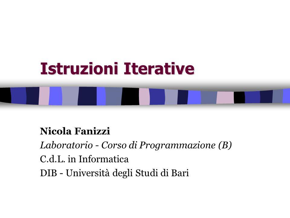 Istruzioni Iterative Nicola Fanizzi