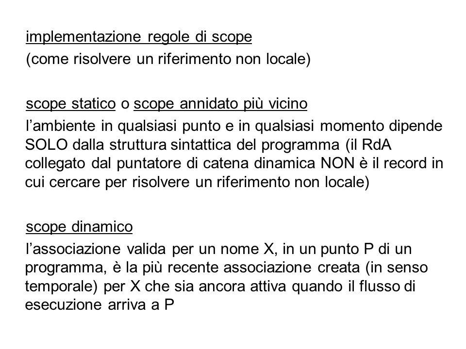 implementazione regole di scope
