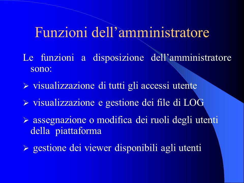 Funzioni dell'amministratore