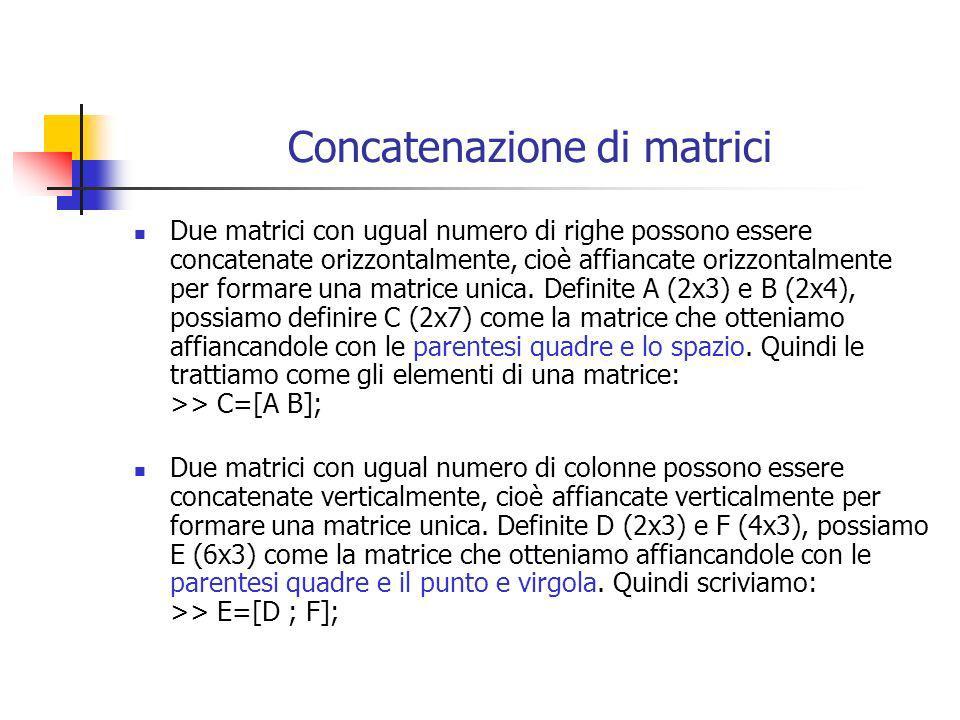 Concatenazione di matrici