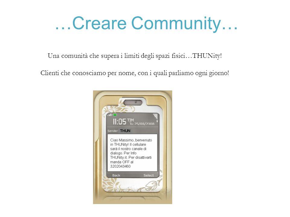 …Creare Community… Una comunità che supera i limiti degli spazi fisici…THUNity.