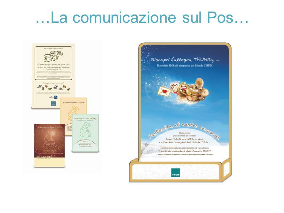 …La comunicazione sul Pos…