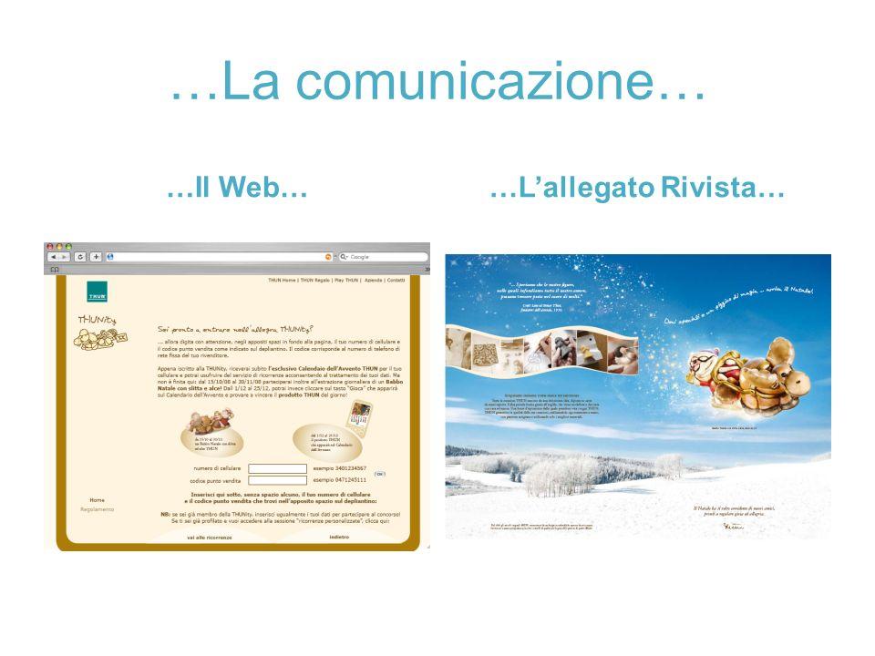 …La comunicazione… …Il Web… …L'allegato Rivista…