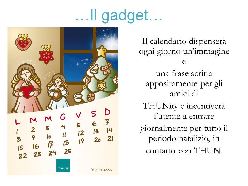 …Il gadget… Il calendario dispenserà ogni giorno un'immagine e