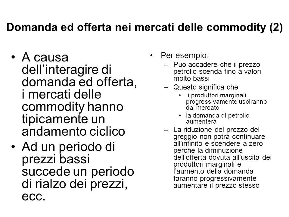 Domanda ed offerta nei mercati delle commodity (2)