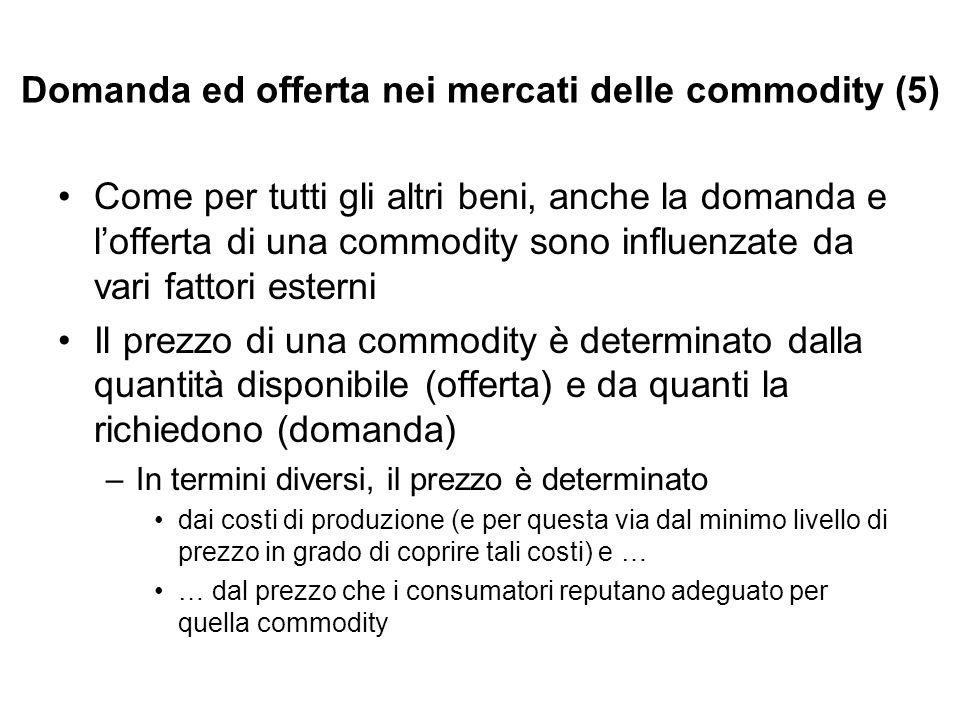 Domanda ed offerta nei mercati delle commodity (5)