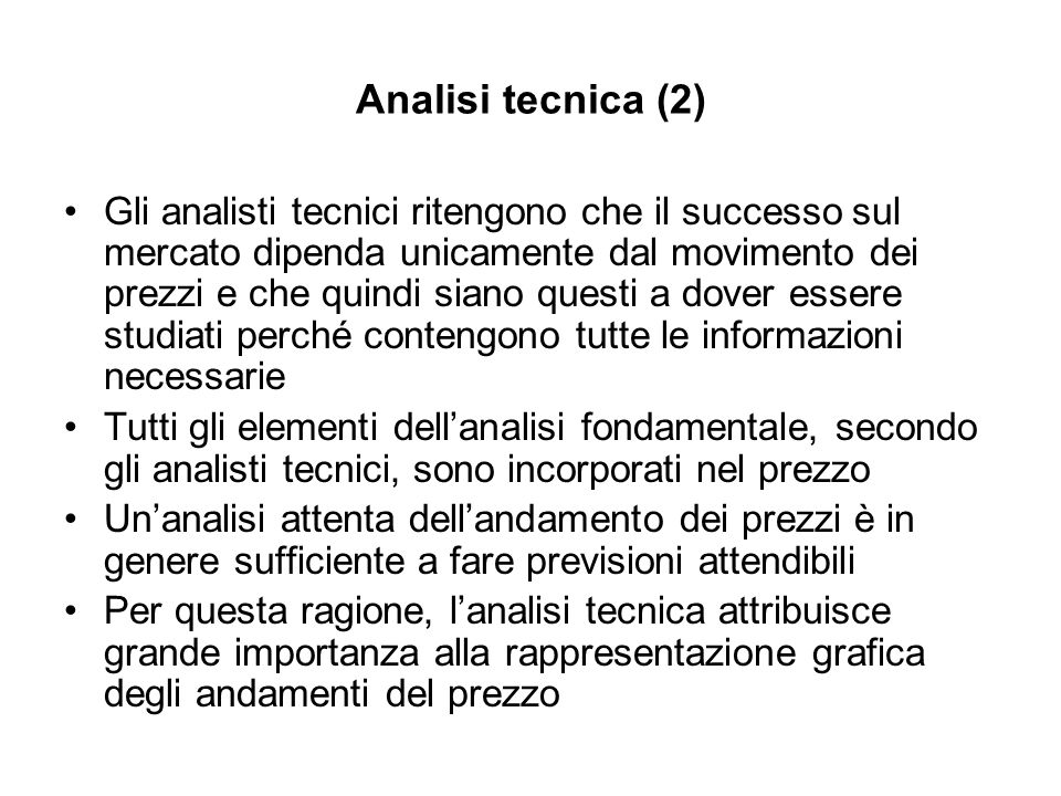 Analisi tecnica (2)