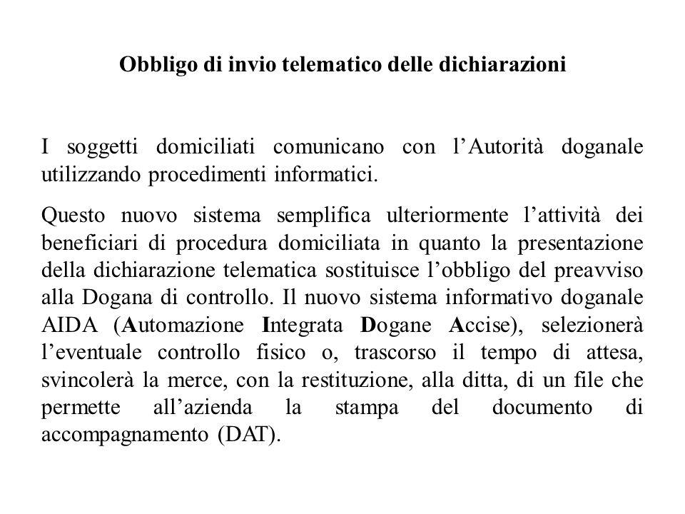 Obbligo di invio telematico delle dichiarazioni
