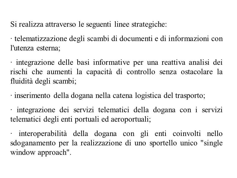 Si realizza attraverso le seguenti linee strategiche:
