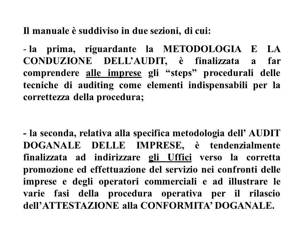 Il manuale è suddiviso in due sezioni, di cui: