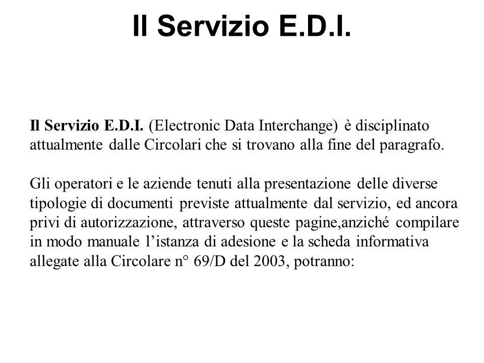 Il Servizio E.D.I.