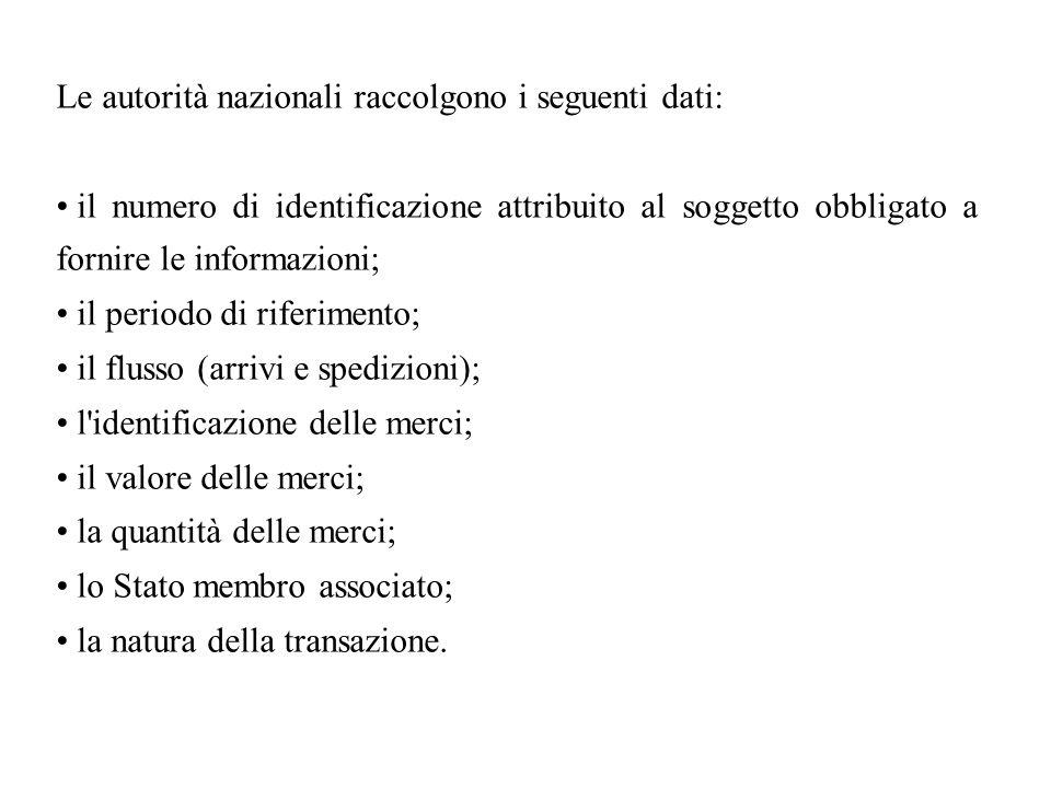 Le autorità nazionali raccolgono i seguenti dati: