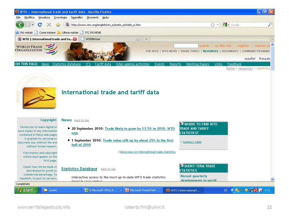 www.terribilepasticcio.info roberto.fini@univr.it