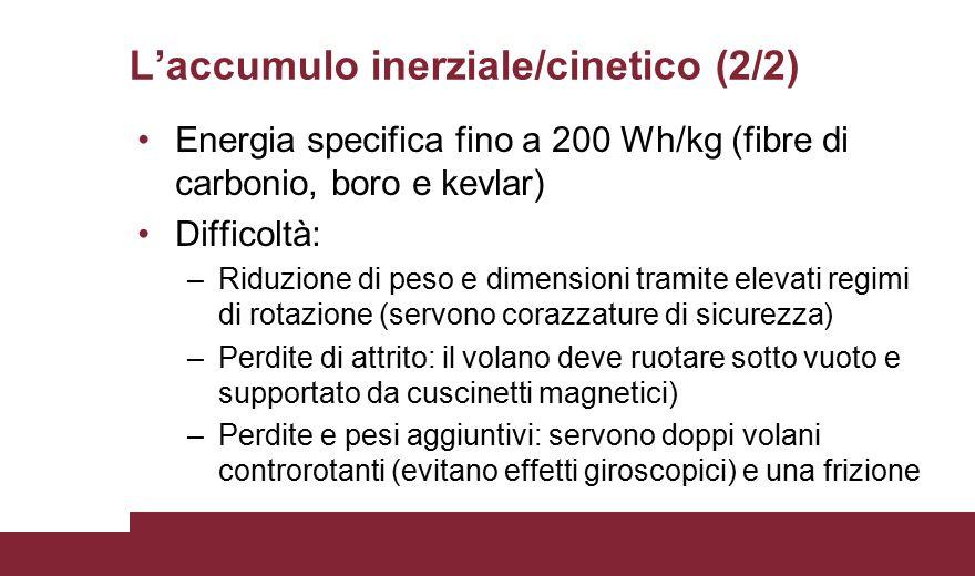 L'accumulo inerziale/cinetico (2/2)