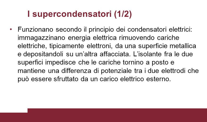 I supercondensatori (1/2)
