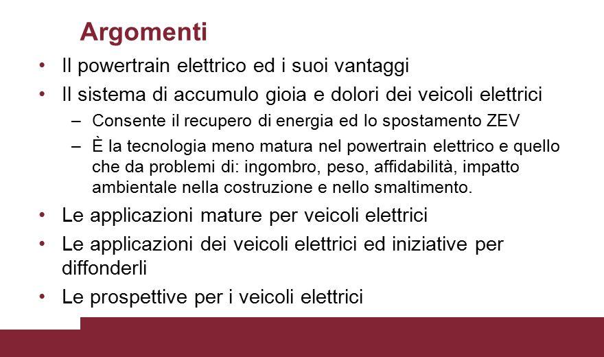 Argomenti Il powertrain elettrico ed i suoi vantaggi