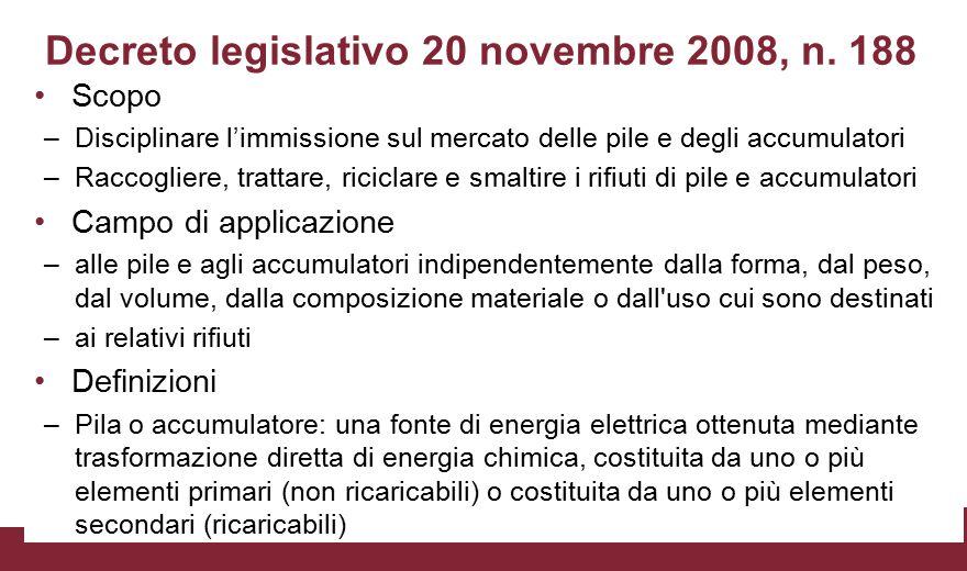 Decreto legislativo 20 novembre 2008, n. 188