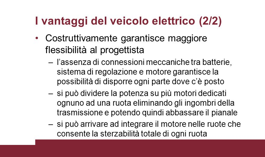 I vantaggi del veicolo elettrico (2/2)