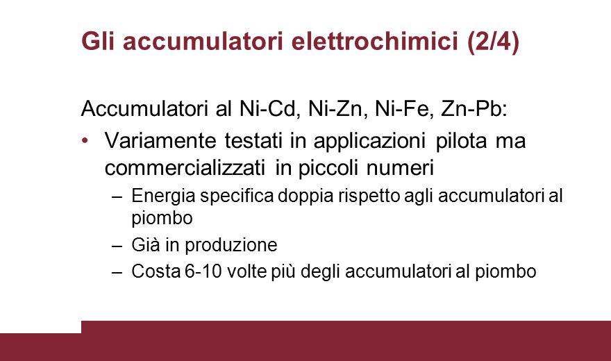 Gli accumulatori elettrochimici (2/4)