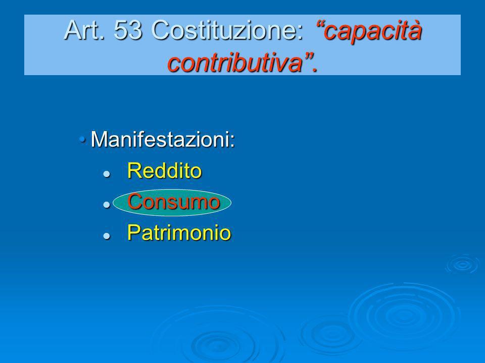 Art. 53 Costituzione: capacità contributiva .