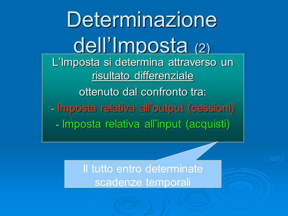 Determinazione dell'Imposta (2)