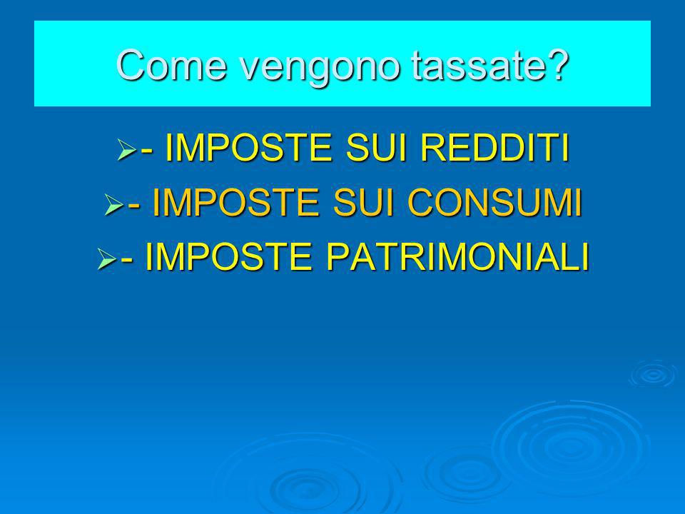 - IMPOSTE PATRIMONIALI
