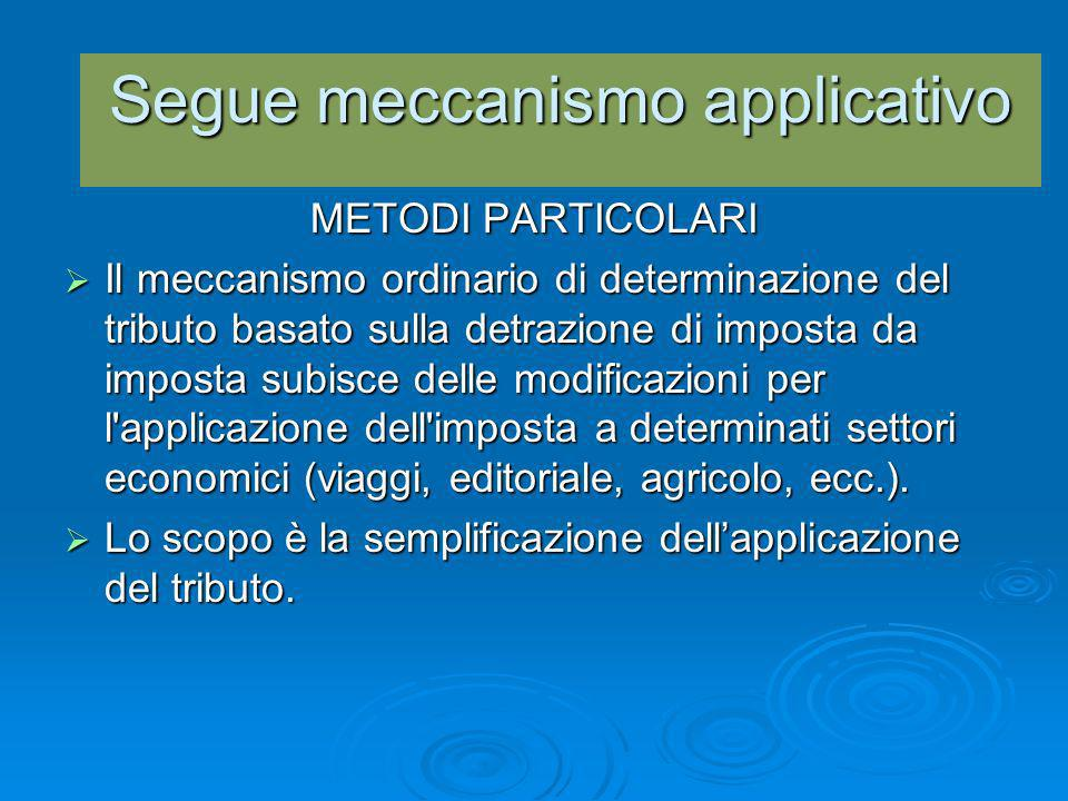Segue meccanismo applicativo