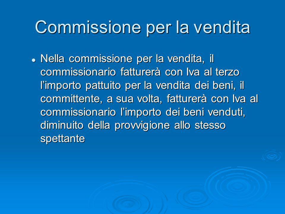 Commissione per la vendita