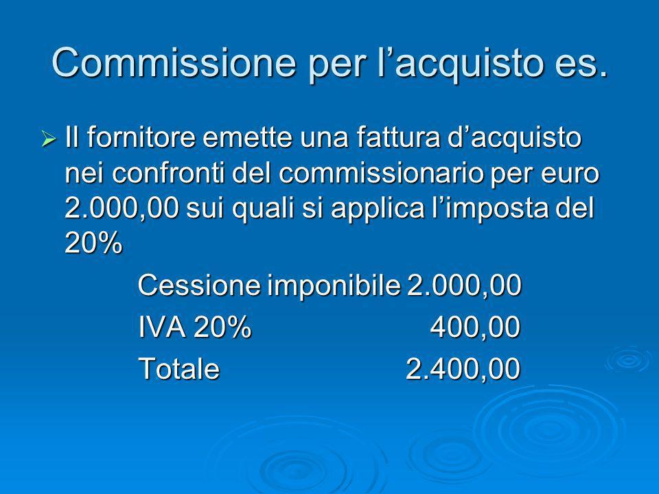 Commissione per l'acquisto es.