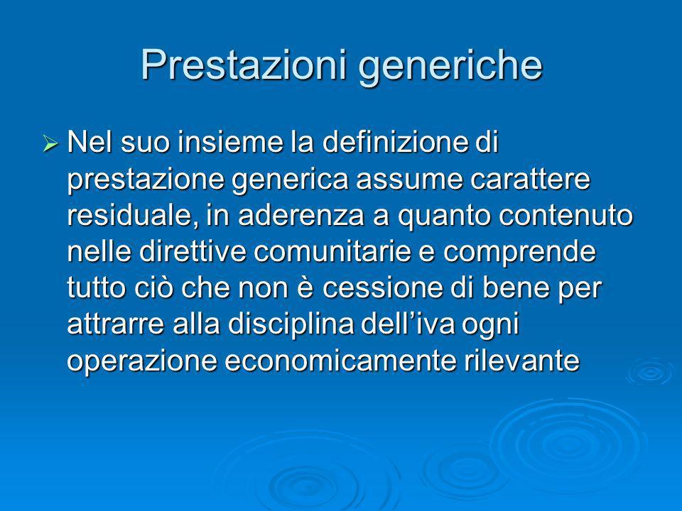 Prestazioni generiche