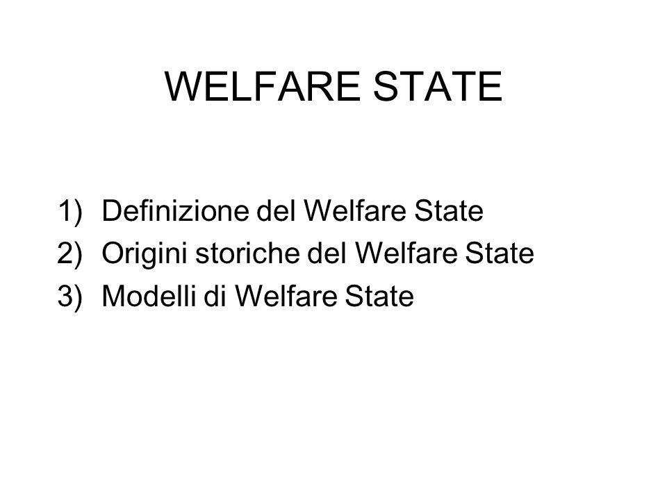 WELFARE STATE Definizione del Welfare State
