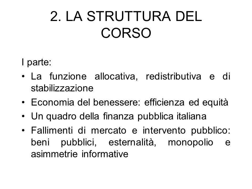 2. LA STRUTTURA DEL CORSO I parte: